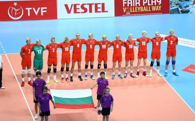 Националният отбор за мъже по волейбол под 18<strong> източник: volleyball.bg</strong>