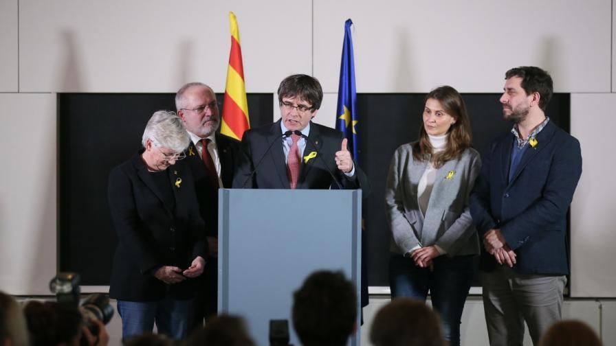 Карлес Пучдемон ликува в Брюксел