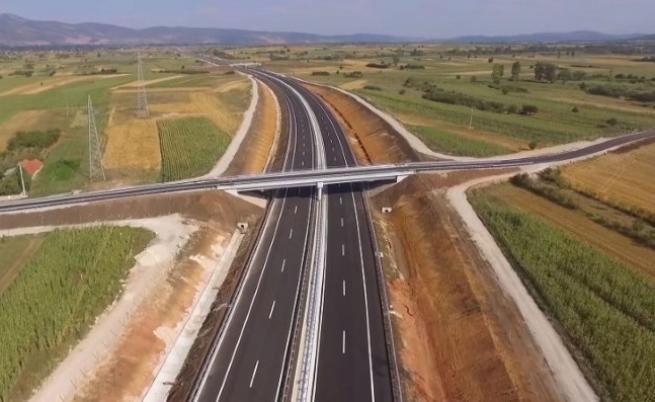 Новата отсечка от магистралата между Българската граница и Пирот