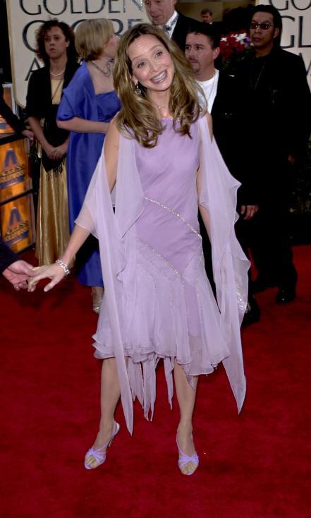 - Актрисата Калиста Флокхарт на наградите през 2001 г.