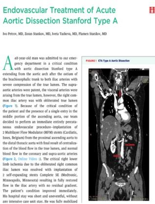 Публикацията в Журнала на американското кардиологично дружество