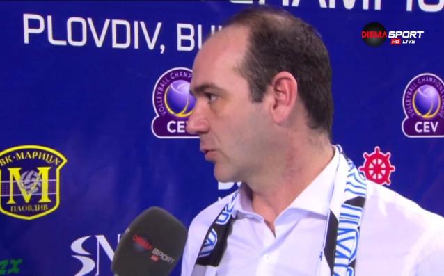 Старши треньорът на Визура Деян Десница коментира успеха с 3:1
