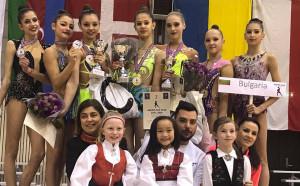 Медали за гимнастичките ни от турнира в Норвегия