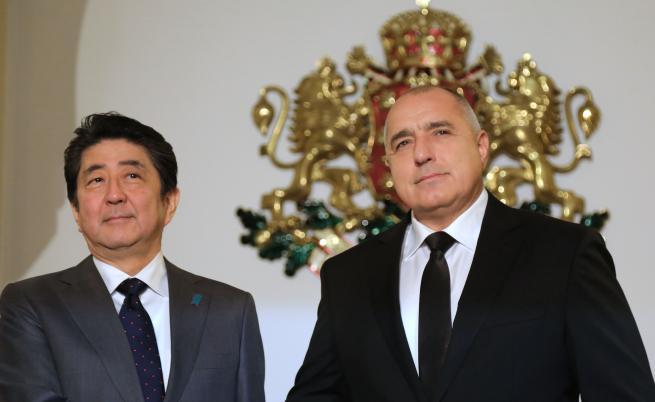 Японския премиер Шиндзо Абе и Бойко Борисов