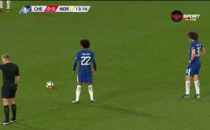 Челси - Норич 0:0 /първо полувреме/