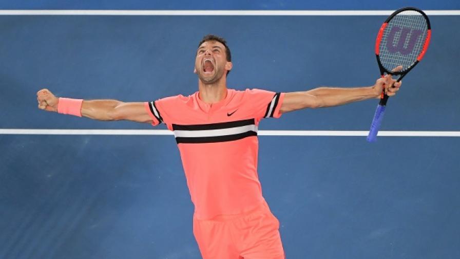 Григор Димитров след победата на осминафинала в Австралия