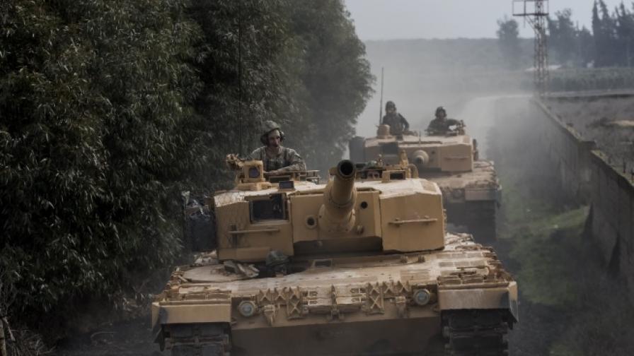 Турски сухопътни войски влязоха в Сирия