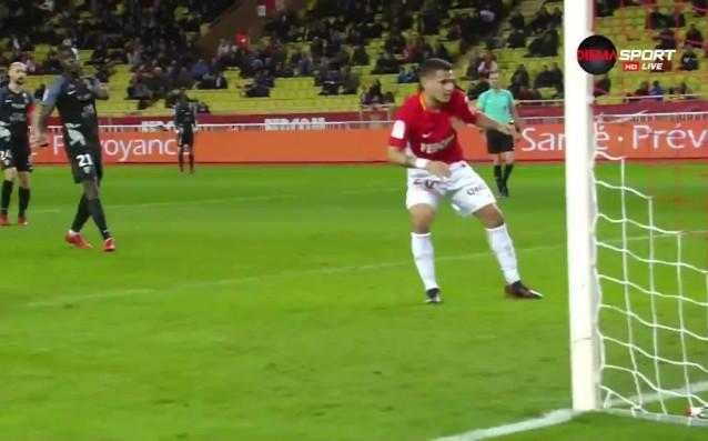 С гол на Рони Лопес в 81-ата минута Монако си