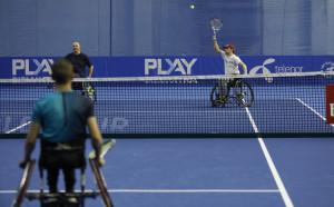 Националите по тенис в колички с демонстрация по време на DIEMA XTRA Sofia Open