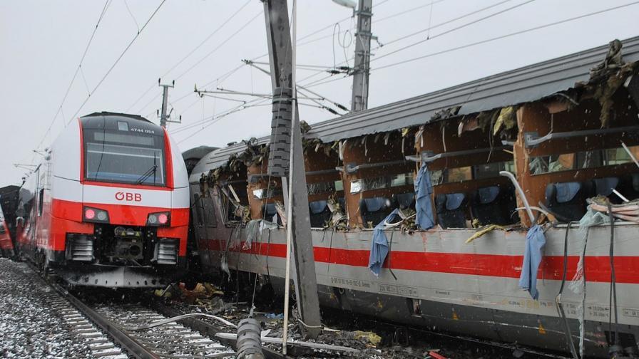 Влакова катастрофа в Австрия, има жертва и ранени