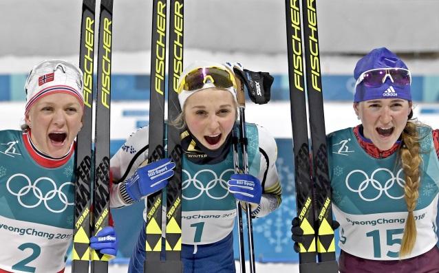 Призьорките в спринта на ски бягането източник: БГНЕС