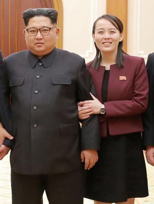 Ким Чен-ун и Ким Йо-чен след връщането на делегацията в Северна Корея.