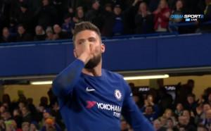 Оливие Жиру вкара първия си гол за Челси