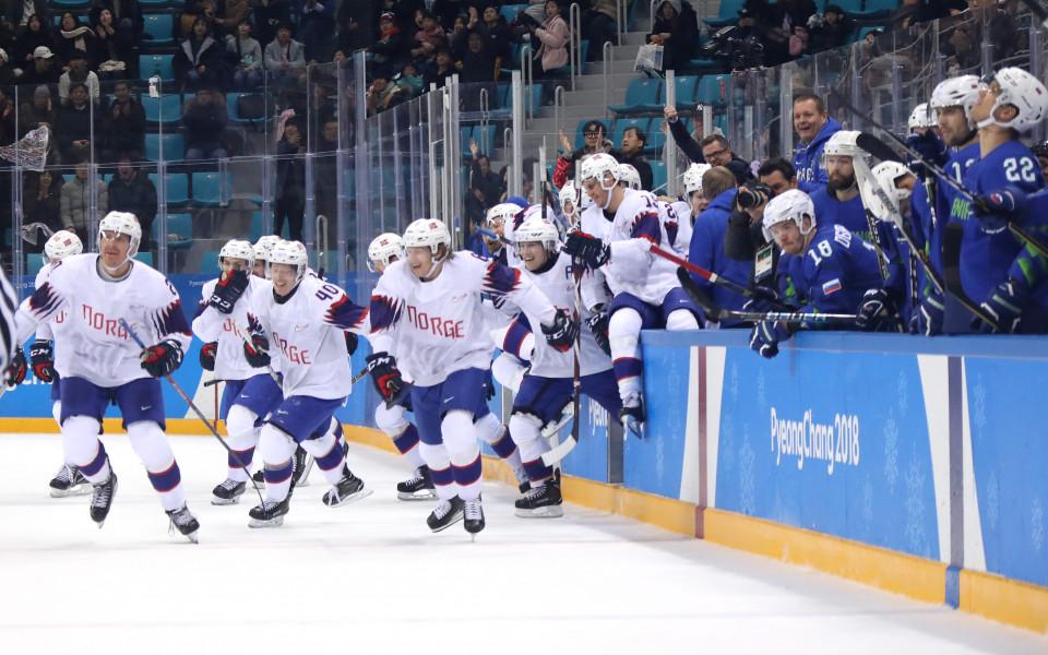 Норвегия с драматично класиране за четвъртфиналите по хокей