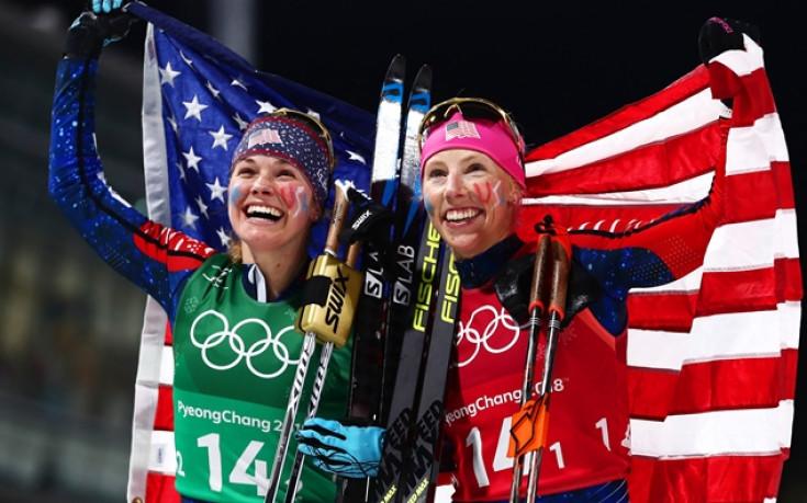 САЩ с историческа титла в отборния спринт по ски бягане за жени