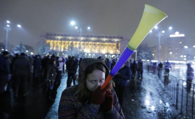 Румъния начело на ЕС, протести