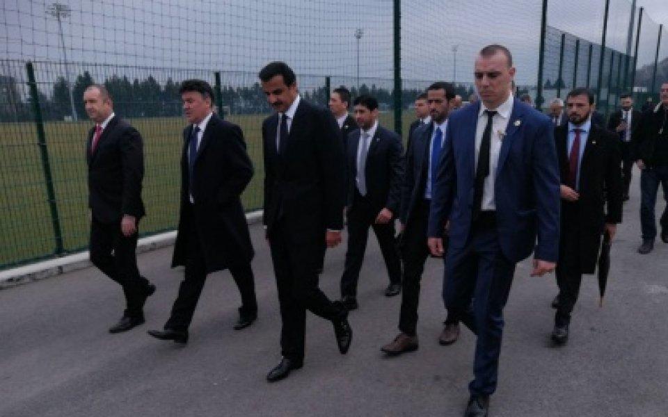 Емирът на Катар и президентът Радев бяха гости на Борислав Михайлов на базата в Бояна