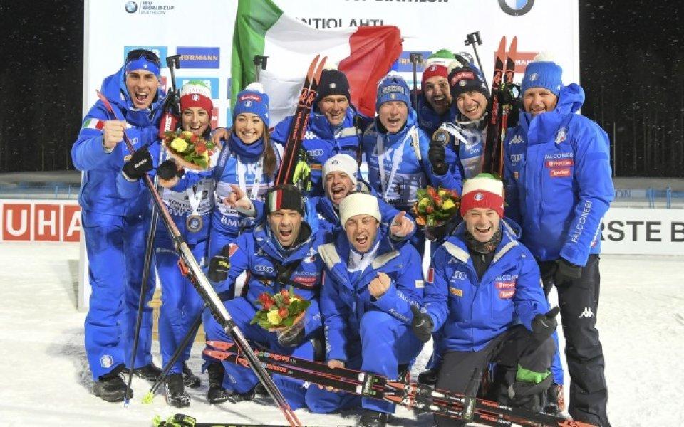 Италия спечели смесената щафета в Контиолахти