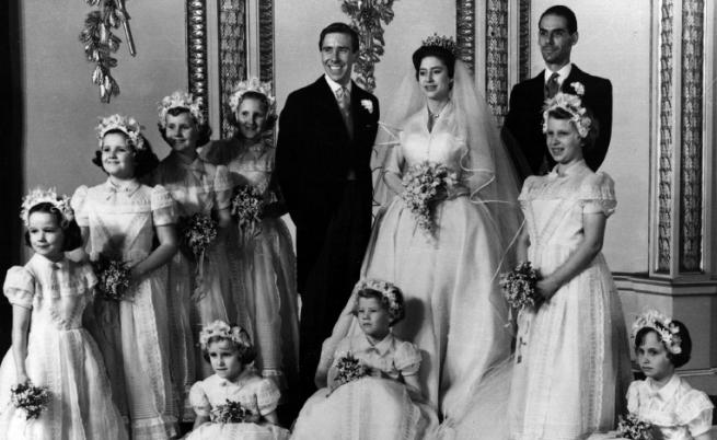 Принцеса Маргарет и Антъни Армстронг-Джоунс на сватбата им