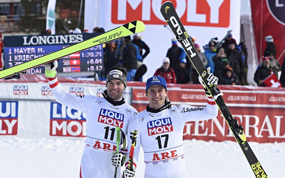 Двама австрийци разделиха първото място в спускането в Оре