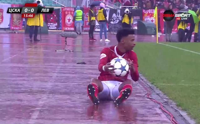 Четири-пет часа проливен дъжд в София буквално наводниха Националния стадион