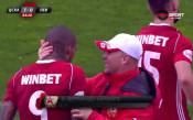 Попадението на Каранга в дербито с Левски