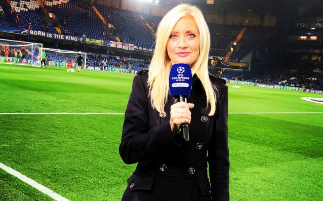Една от популярните тв водещи в ефира на BBC Sport