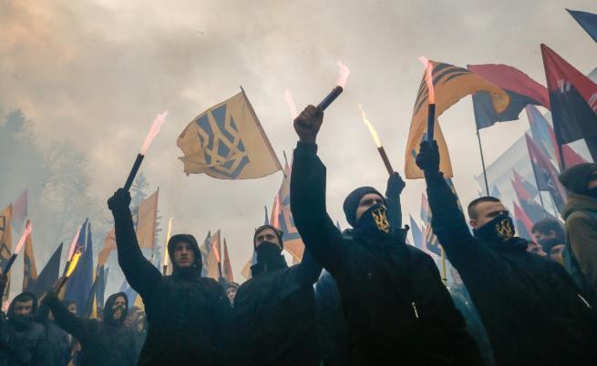 Демонстрация на националисти в Украйна