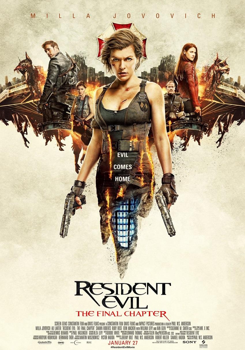 """Resident Evil – Мила Йовович до голяма степен изгради кариерата си през последните 15 години около поредицата Resident Evil, която достигна застрашителния размер от общо шест филма преди премиерата на последния от тях през 2016 година, символично именуван """"Финалът"""". Въпреки катастрофалните критически отзиви, лентите регистрираха задоволителни финансови постъпления."""