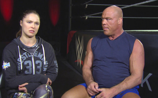 Ronda Rousey trains for her WrestleMania debut: Raw, March 19,