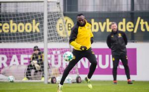 Болт с първа тренировка с Дортмунд, рамо до рамо с Ройс и Гьотце