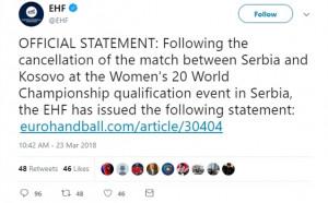 Скандал Сърбия – Косово в евроквалификация по хандбал