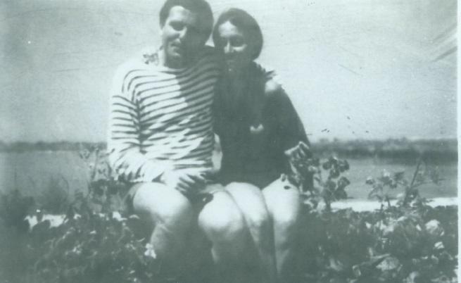 Снимка, изпратена от Юлия Кръстева до близките й и запазена в досието й в Държавна сигурност
