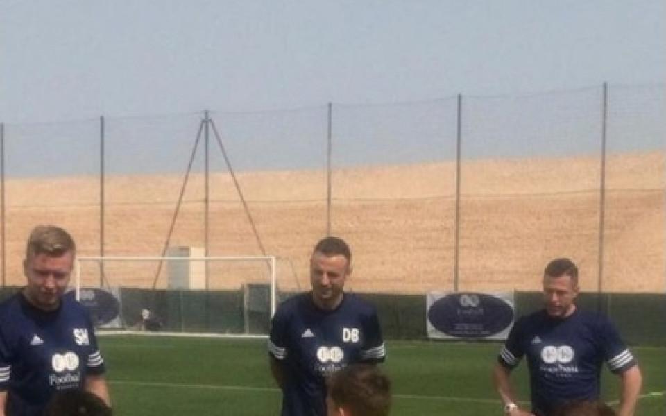 Бербо вече тренира деца в Дубай