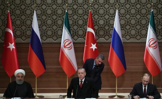 Историческите сблъсъци между Иран, Турция и Русия влияят на политиката им в Сирия