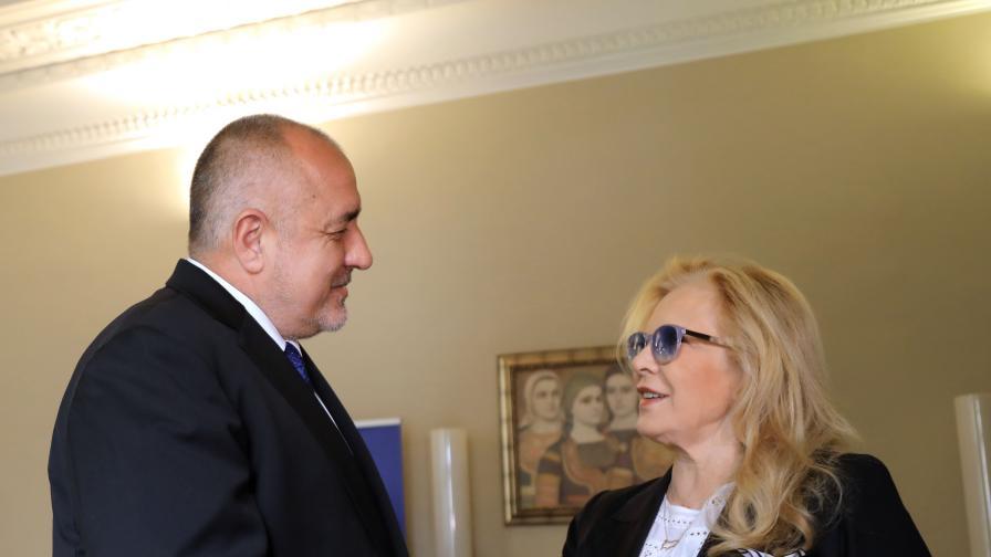 Борисов благодари на Силви Вартан