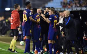 Барселона с три мача на Чемпиънс Къп