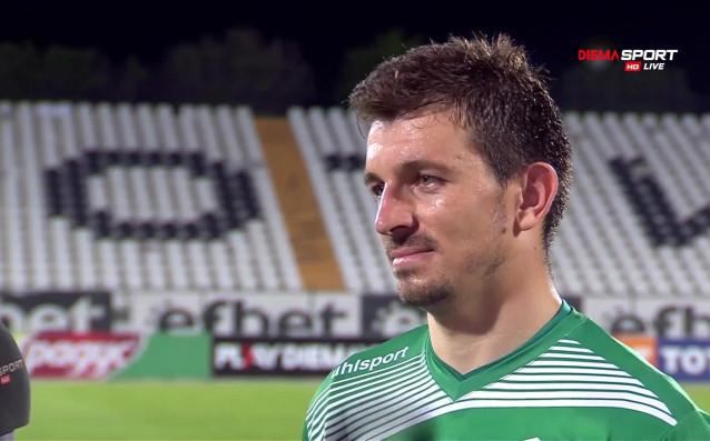 Вратарят на Септември Янко Георгиев съвсем заслужено получи наградата за