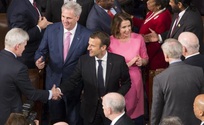 Еманюел Макрон в Конгреса на САЩ