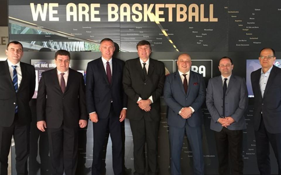 Шефовете на Левски на среща в централата на ФИБА