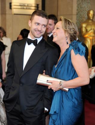 Джъстин Тимбърлейк и майка му Лин
