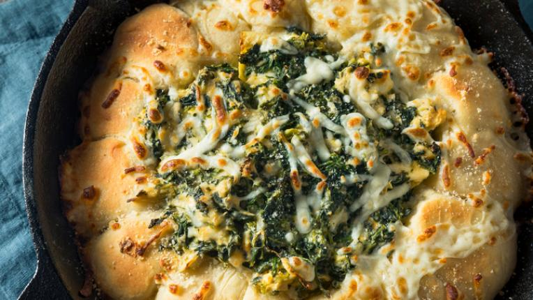 Хляб със спанак и сирене