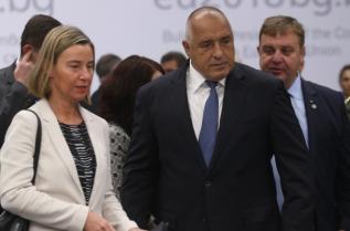 Бойко Борисов и зам.-председателят на ЕК Федерика Могерини