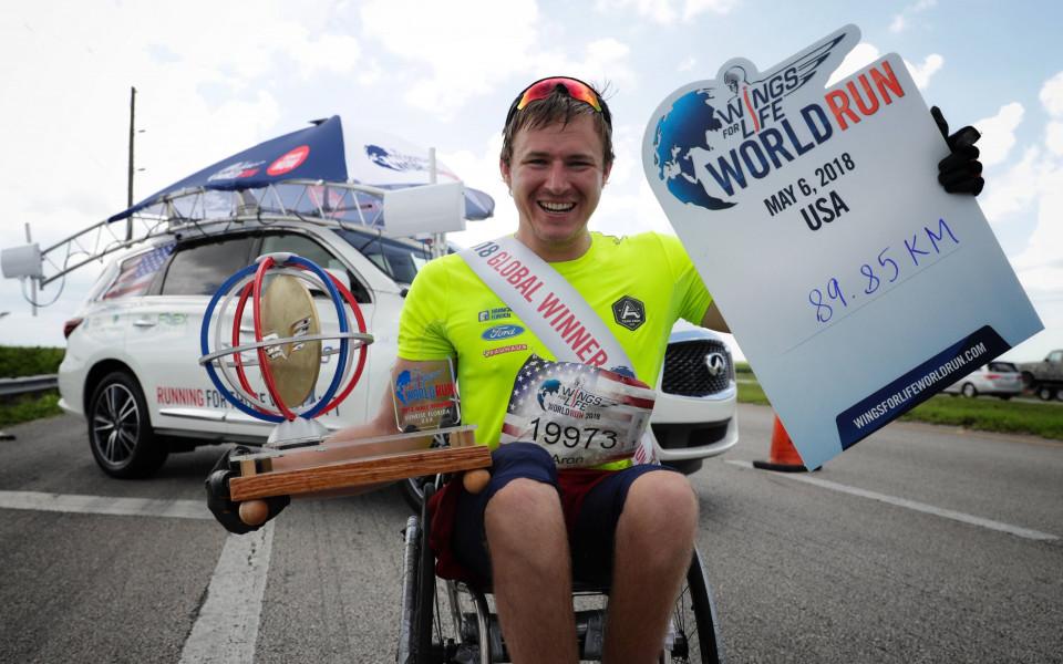 943 484 км бяха избягани по време на петия Wings for Life World Run