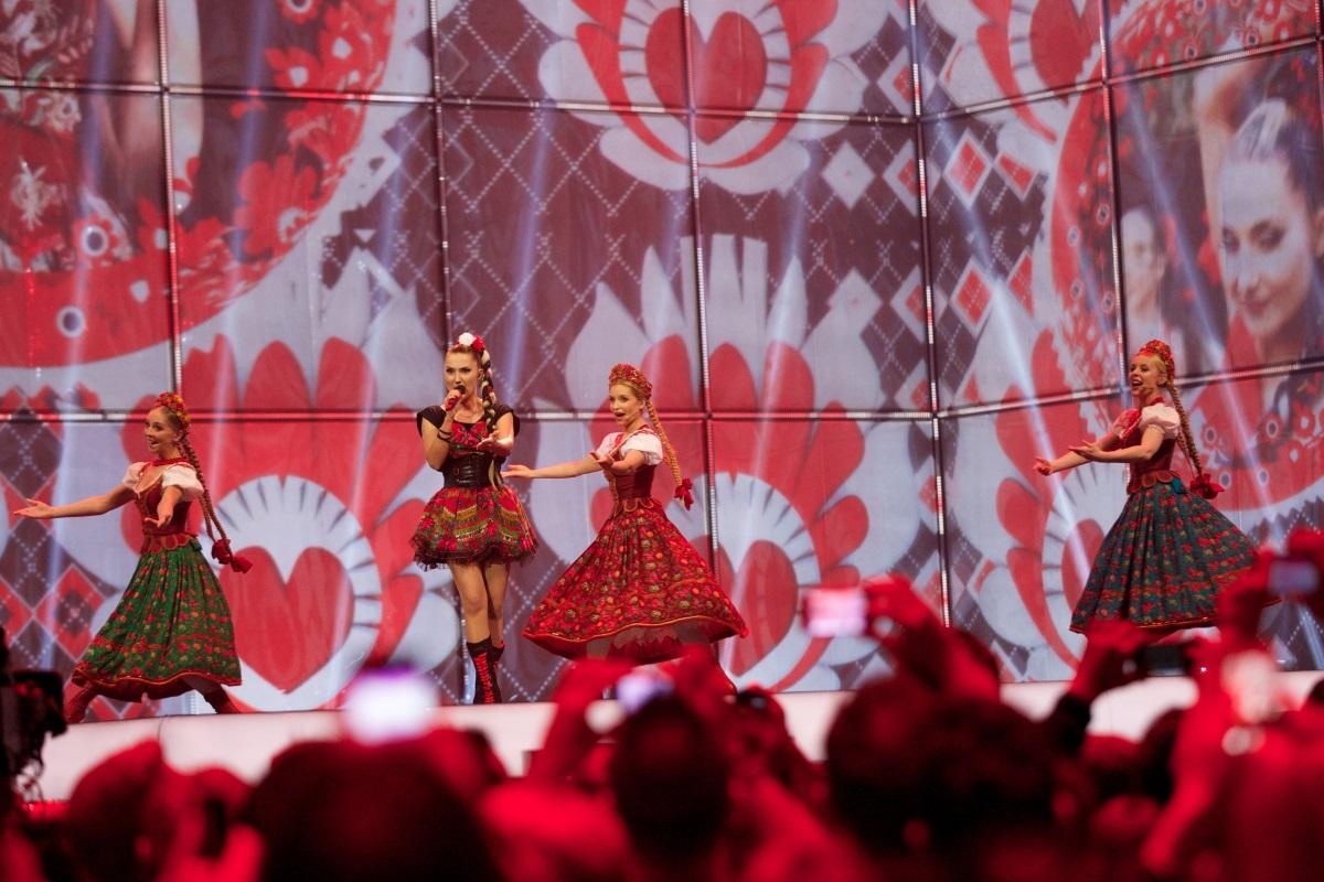 """Донатан и Клео от Полша на втория полуфинал на """"Евровизия"""" в Дания, 2014 г."""
