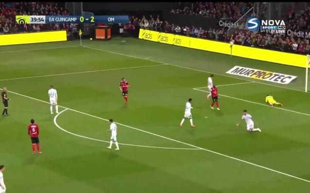 Марсилия взе преднина от 2:1 на полувремето при гостуването си