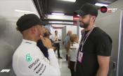 Хамилтън и Пике на раздумка след тренировката в Барселона