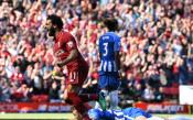Ливърпул подсигури топ 4, а Мо Салах покори върха