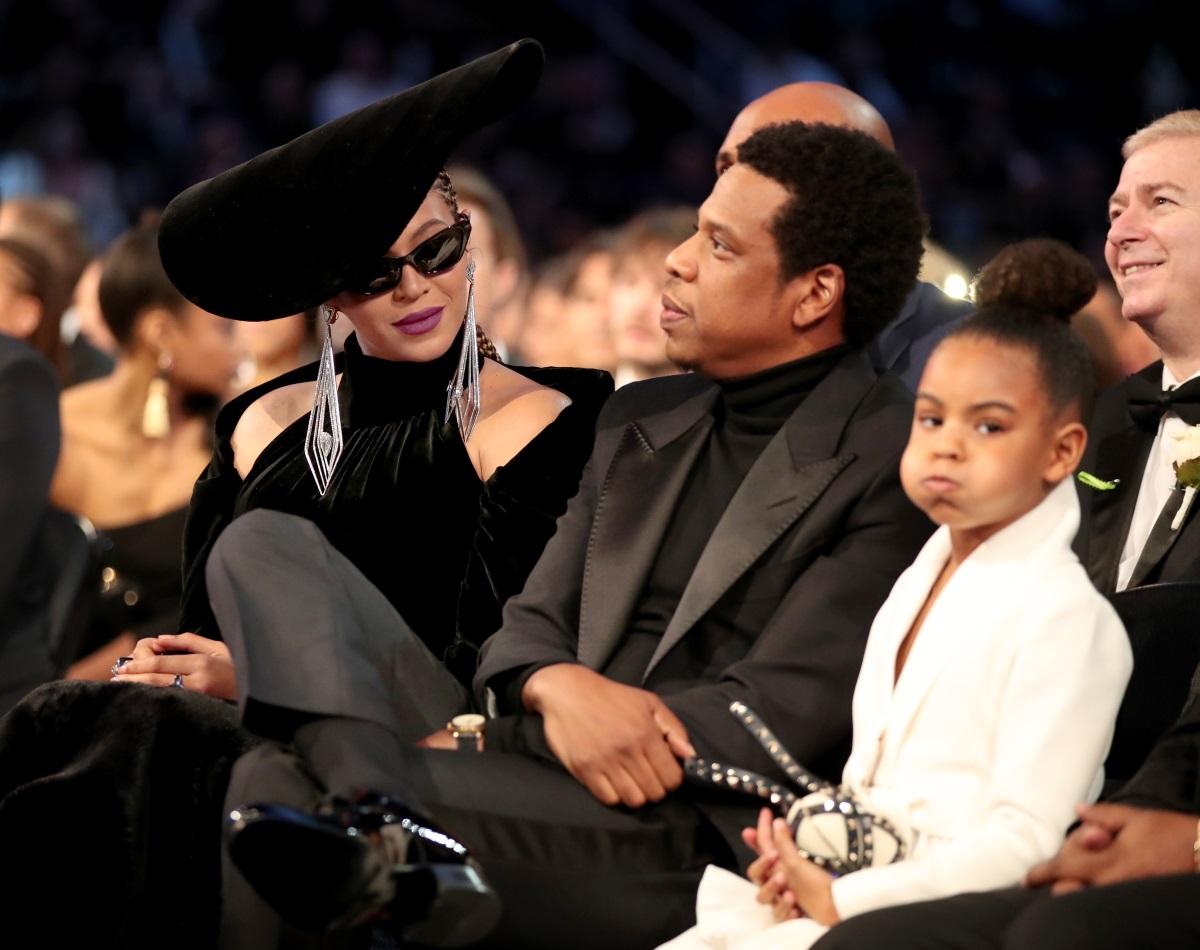 """Дъщерята на Бионсе и Джей Зи - Блу Айви, е известна с физиономиите и реакциите си по време на събитията, на които ходи с известните си родители. Тази снимка е от тазгодишните награди """"Грами""""."""