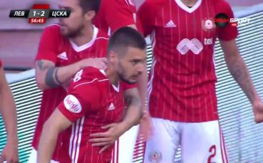 С гол на Малинов ЦСКА пак поведе на Левски